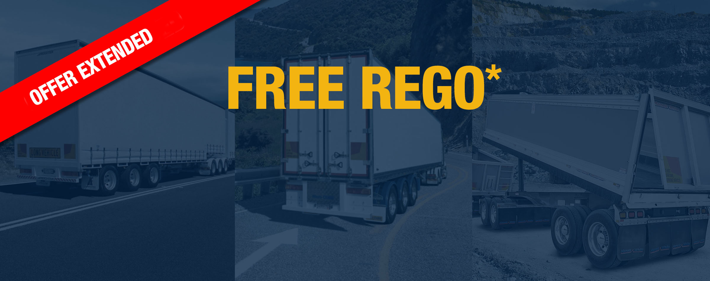 Free Registration On new trailers ordered in August