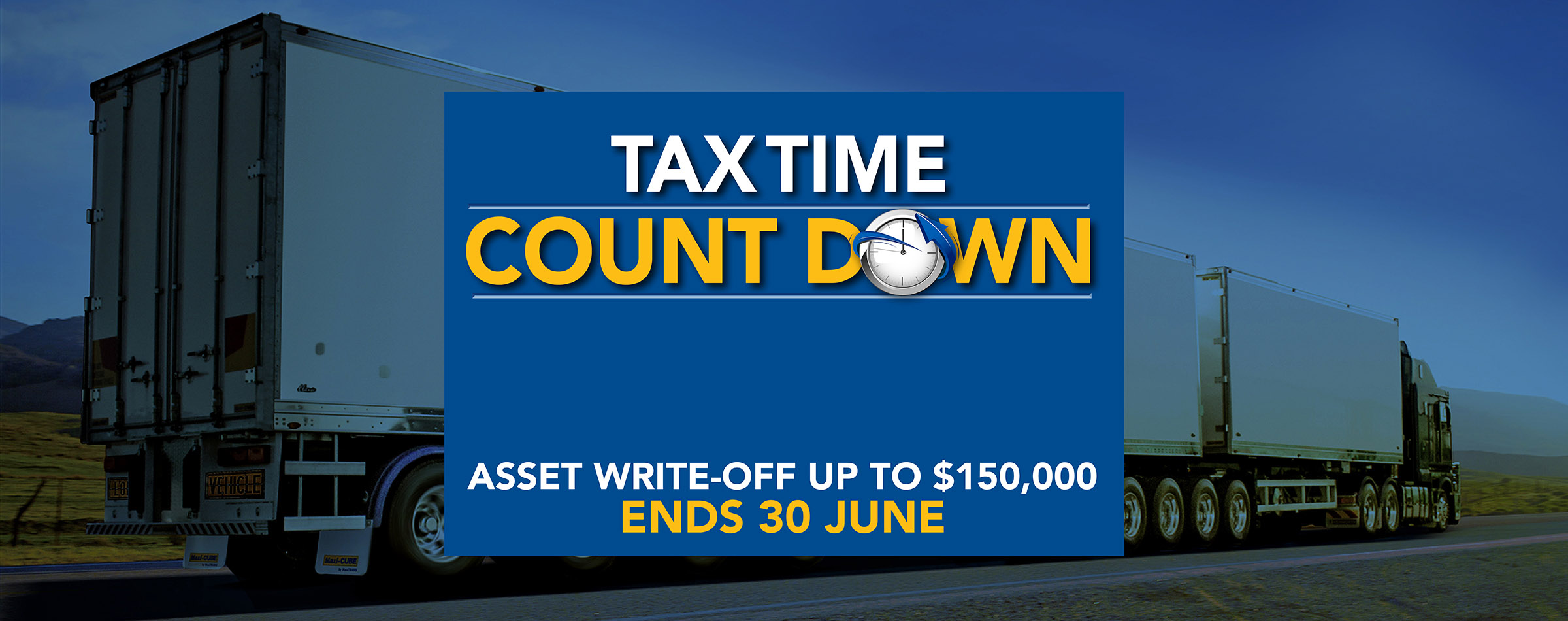 MaxiTRANS Tax Time Count Down