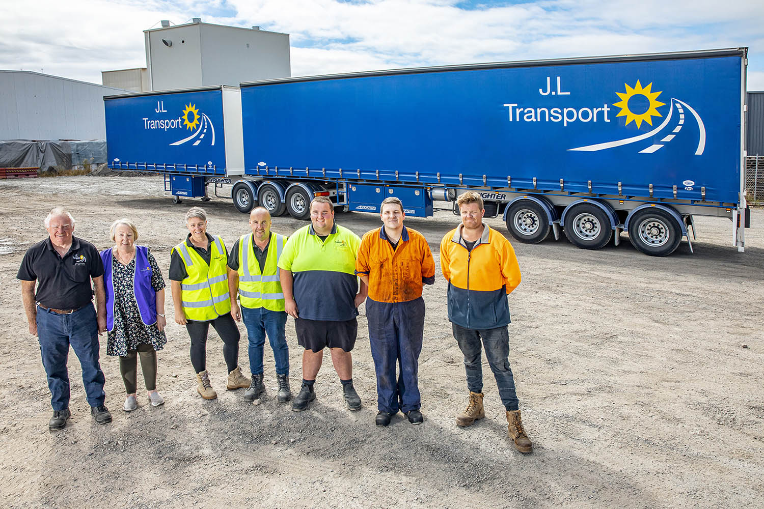 JL Transport family run business with Freighter semi trailers