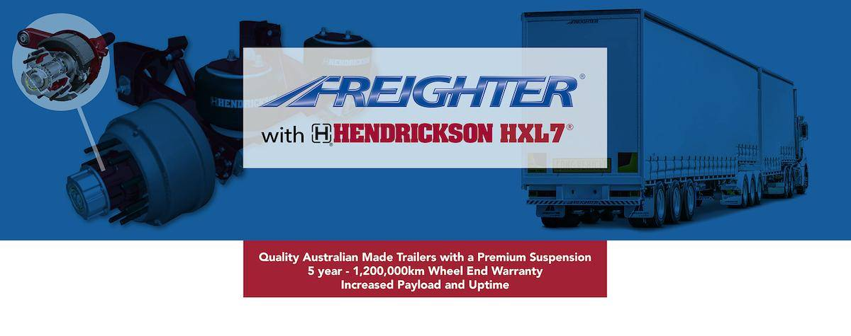 Freighter trailers with Hendrickson suspension